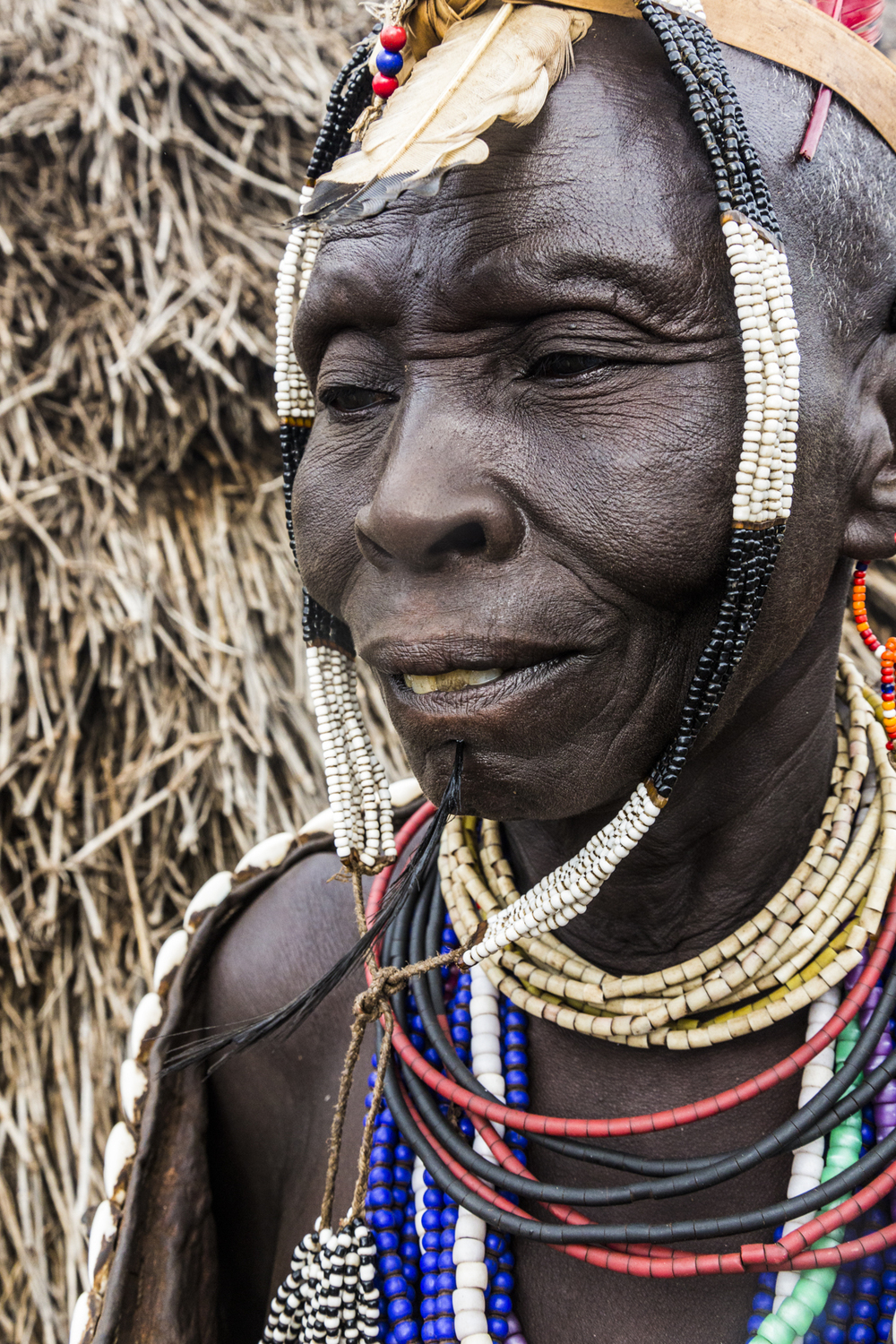 Kara woman elder, Omo Valley