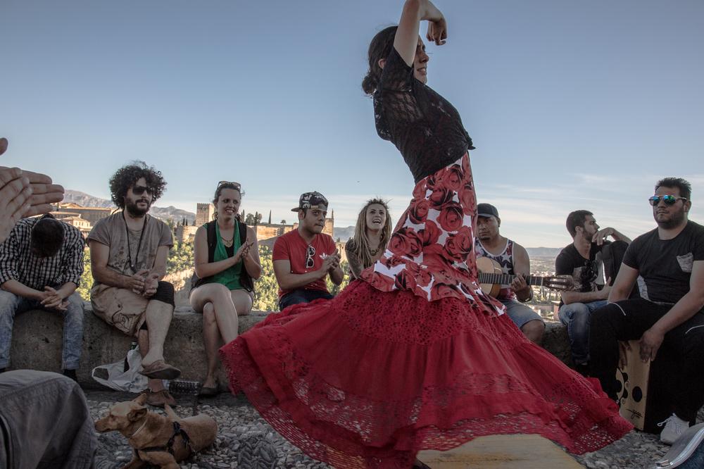 Gypsy flamenco dancer, Granada