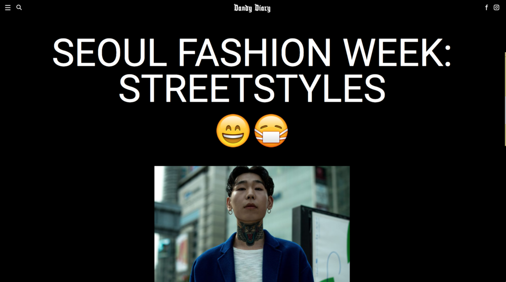 Dandy Diary - Seoul Fashion Week F/W17 Street Style
