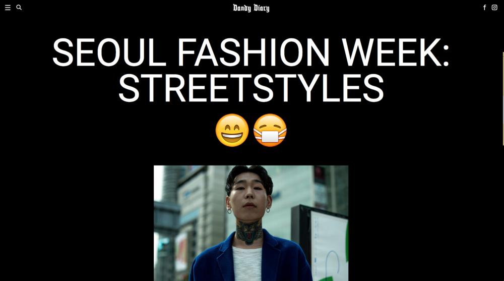 Dandy Diary - Seoul Fashion Week F/W17 Street Style
