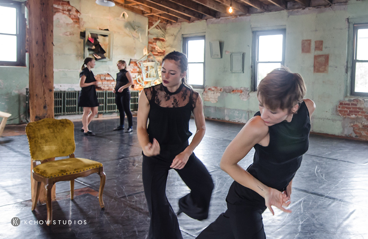 Rehearsing | Photo of Ann-Marie Gover, Brandi Ou, Caroline O'Brien, Grace Stern