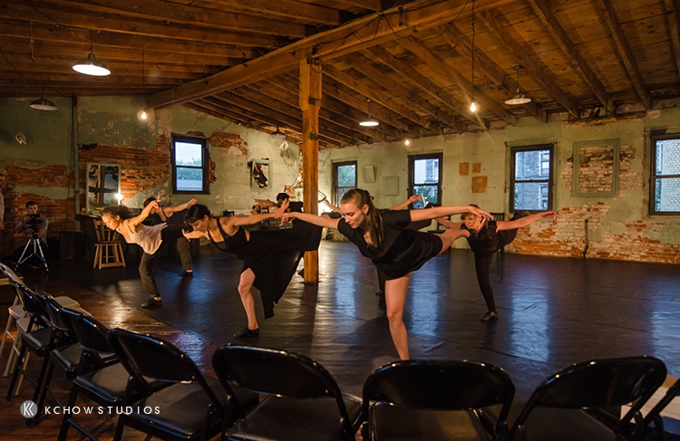 "Rehearsal | Photo of Olive Prince, Ann-Marie Gover, Brandi Ou, Caroline O'Brien, Grace Stern, Evalina ""Wally"" Cain Carbonell, Jennifer Rose, Lindsay Browning"