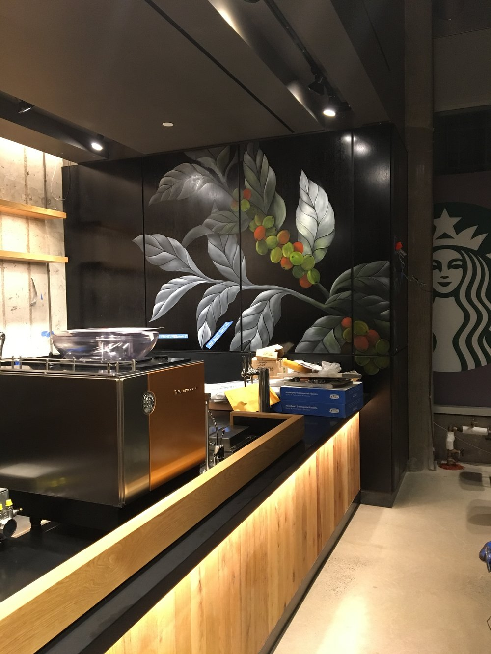Starbucks - NYC - Oil Painting on panels