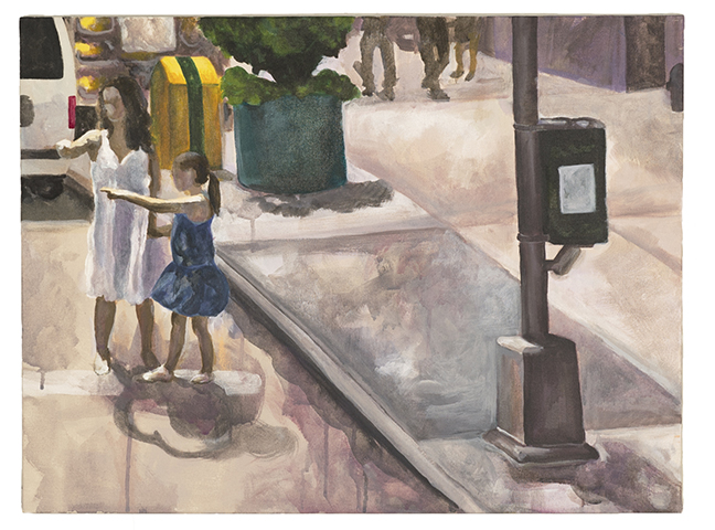 Google Street View Project. Acrylic, 2014.