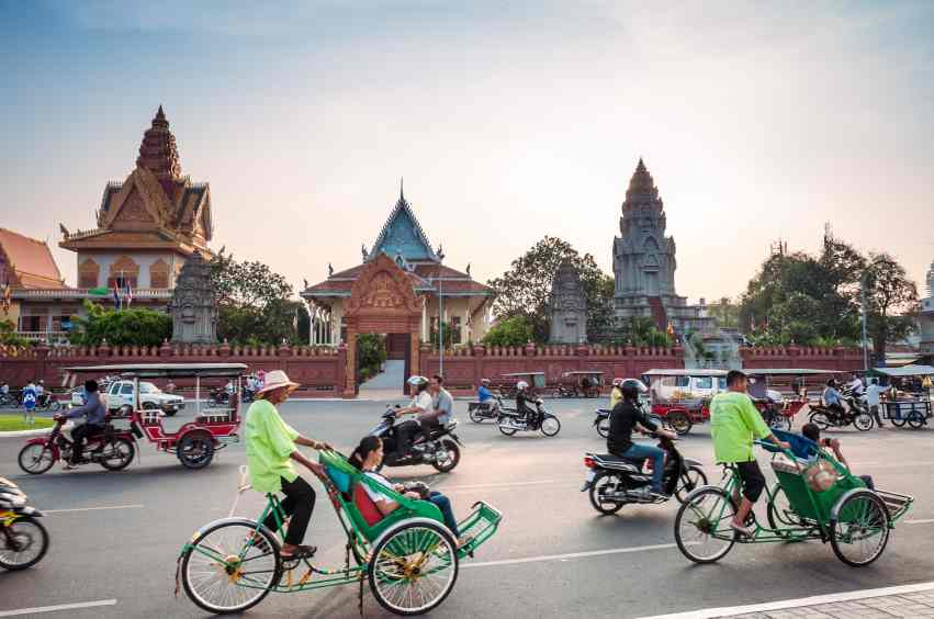 Wat Ounalom in Phnom Penh, Cambodia
