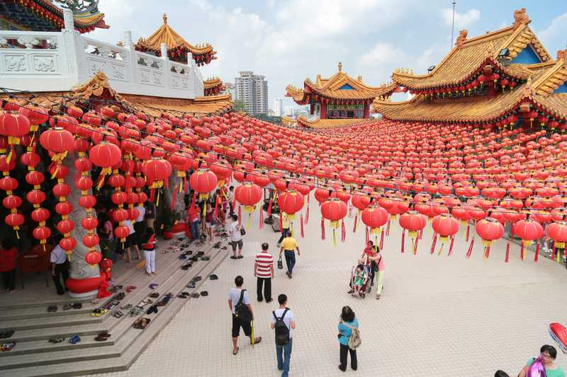 Thean Hou temple in Kuala Lumpur during Chinese New Years