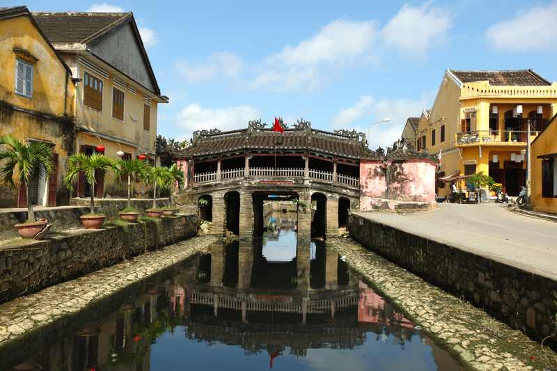 Japanese bridge in ancient town of Hoi An