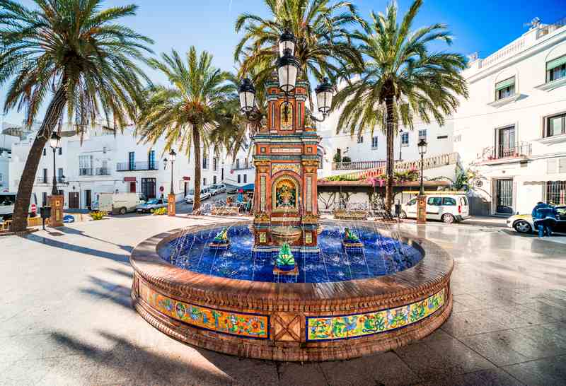 The main square in Vejer De La Frontera