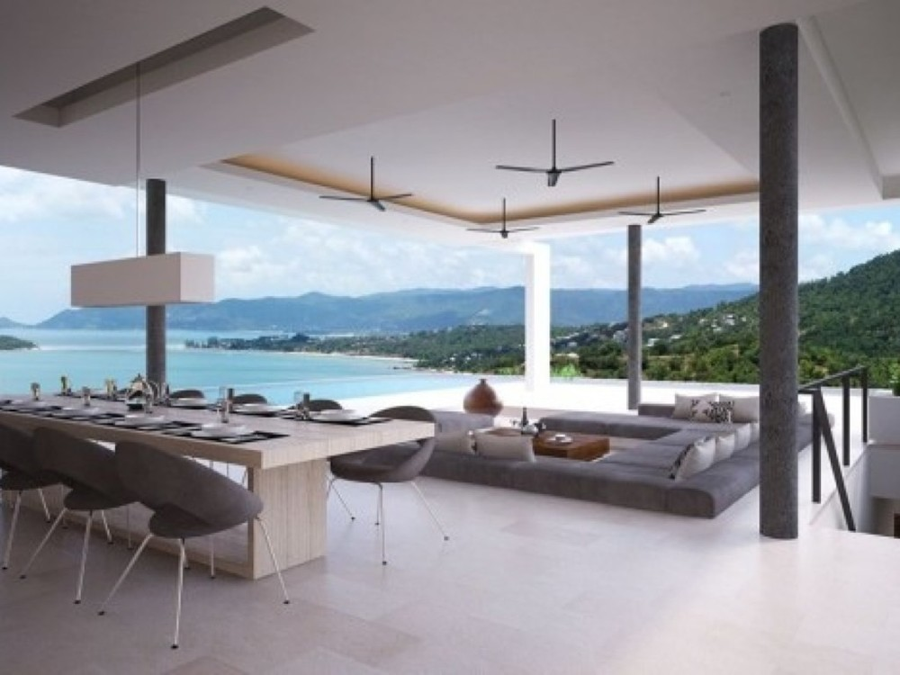 Koh Samui, 4 bedrm, with private pool perched on oceanfront hillside and its own secluded beach