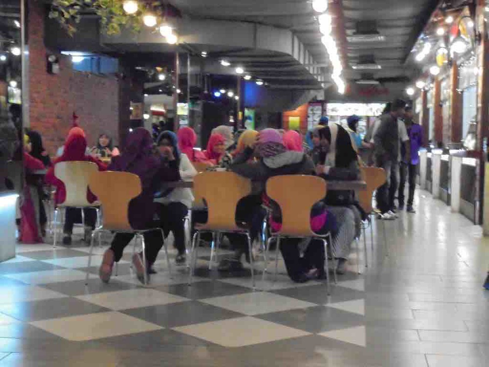 Halal section at food court