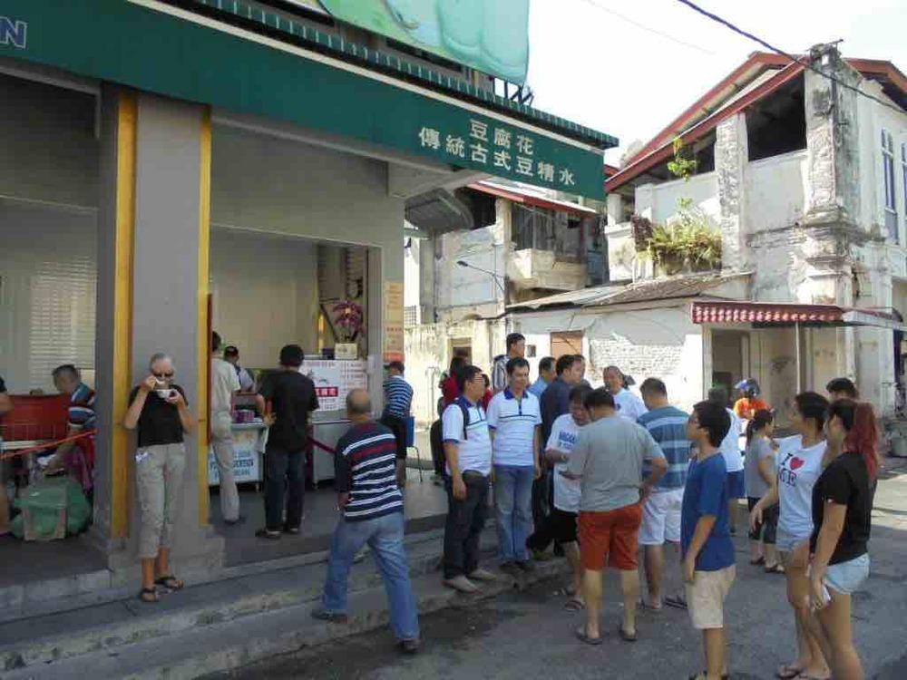 Chaos at the Funny Mountain Tofu stall