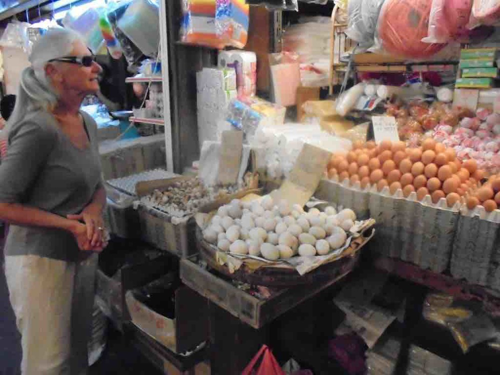 Egg displays at Ipoh wet market