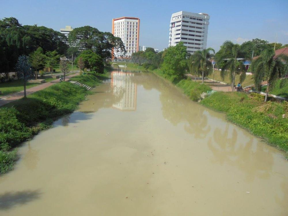 Kinta river after last night's storm