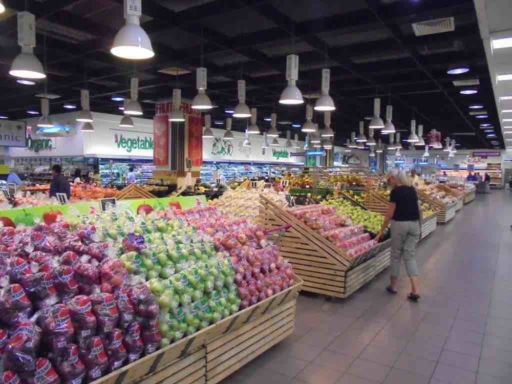 Vast display of vegetables