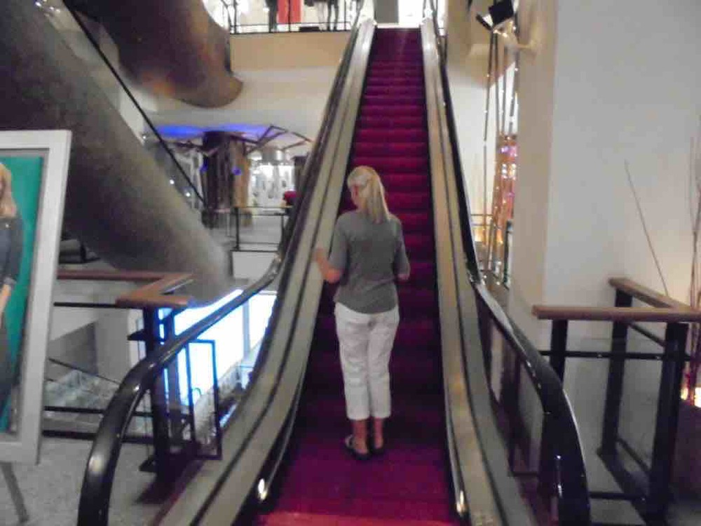 Red carpet escalators