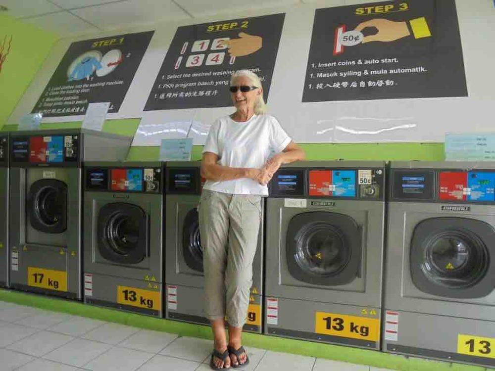 Erica tackling laundromat