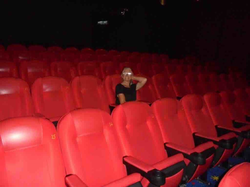 Quiet day at the movies