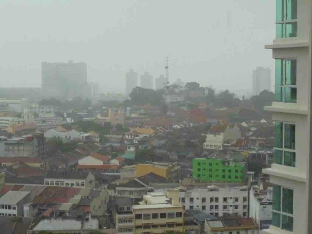 Rain over Melaka