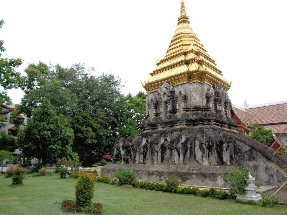 Elephant based stupa