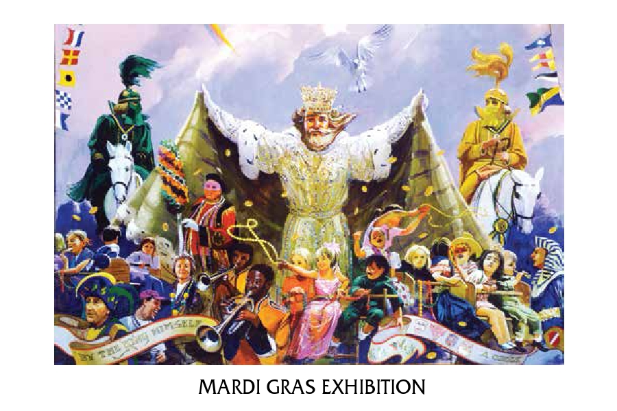 Mardi Gras Exhibition Invitation