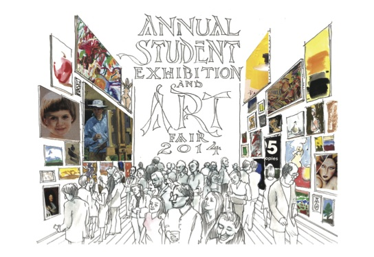 Annual Student Exhibition & Art Fair Invitation