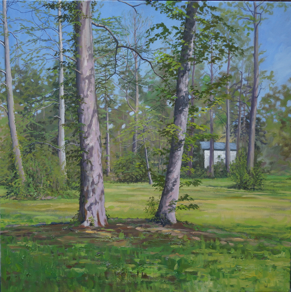 Louis Morales, Ann's Yard, 25x25, oil on canvas
