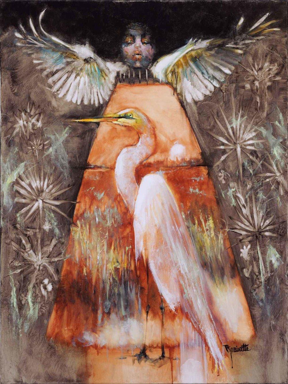 """Garland Robinette, Evangelette, oil on canvas, 30 x 40"""""""