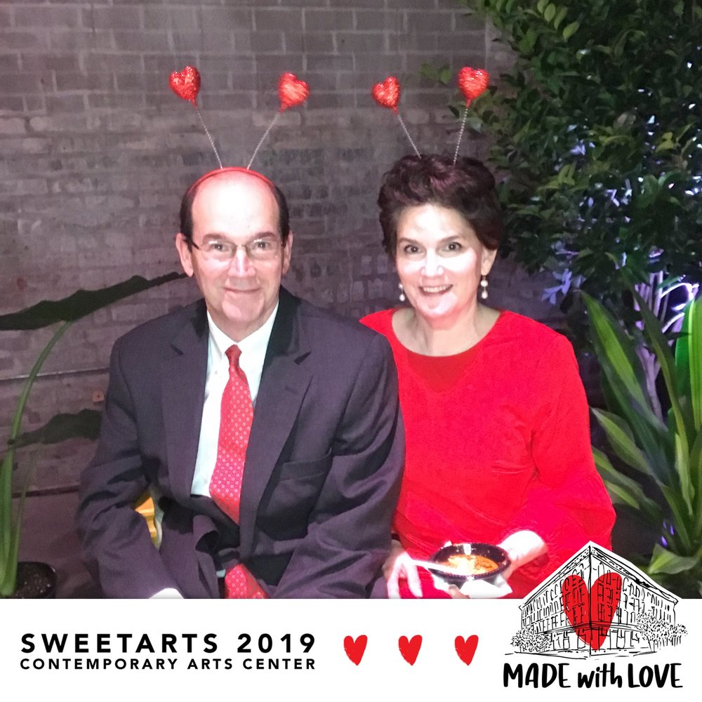 Sandra and her husband David attending the SweetArts 2019 event at the CAC on February 9