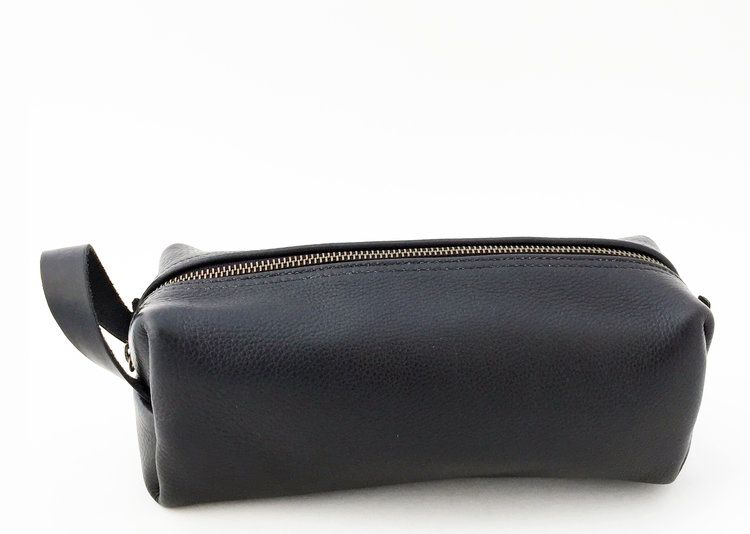 Black Leather Dopp Kit — Armstrong s All Natural - Made in USA 32a288bde3b38
