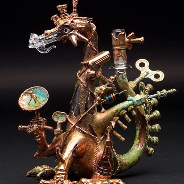 Joe P. x Snic's steam punk elecotroformed dragon will blow some smoke in your lungs