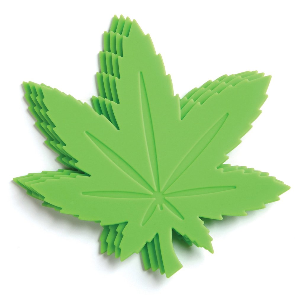 marijuana leaf cup coaster