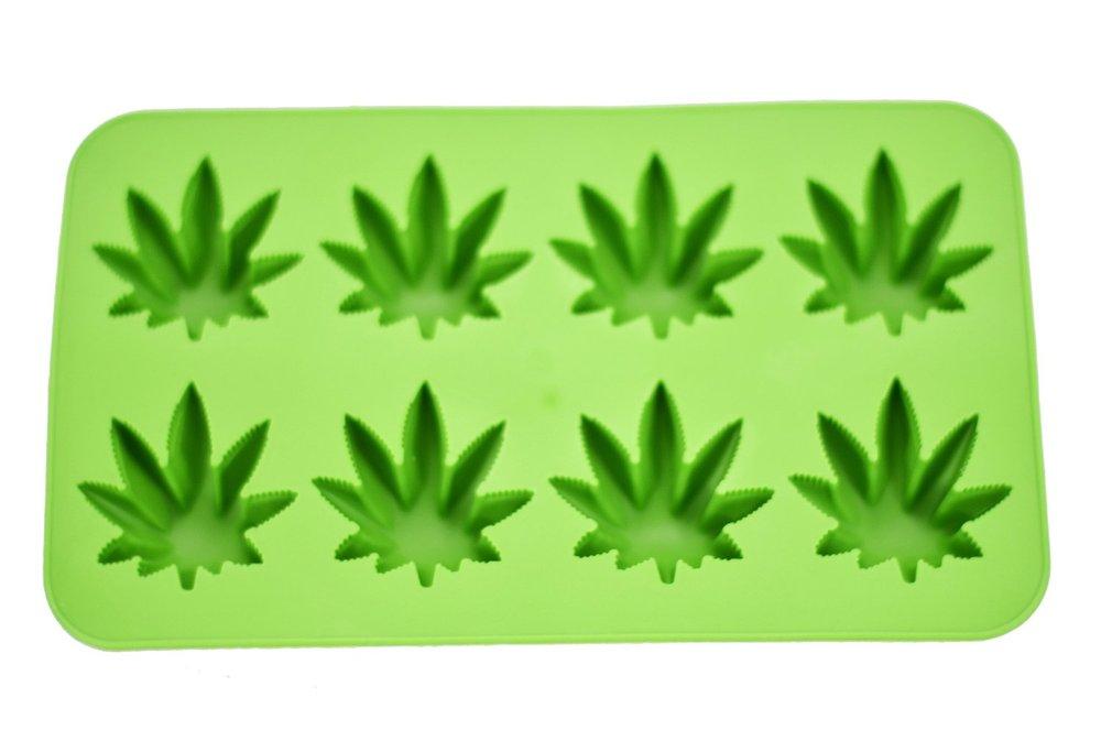 cannabis leaf ice cube