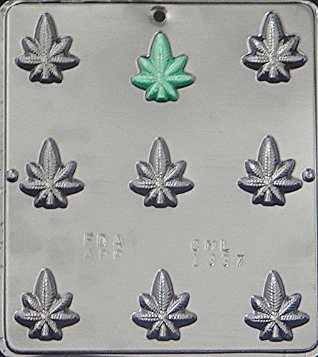 marijuana leaf chocolate mold