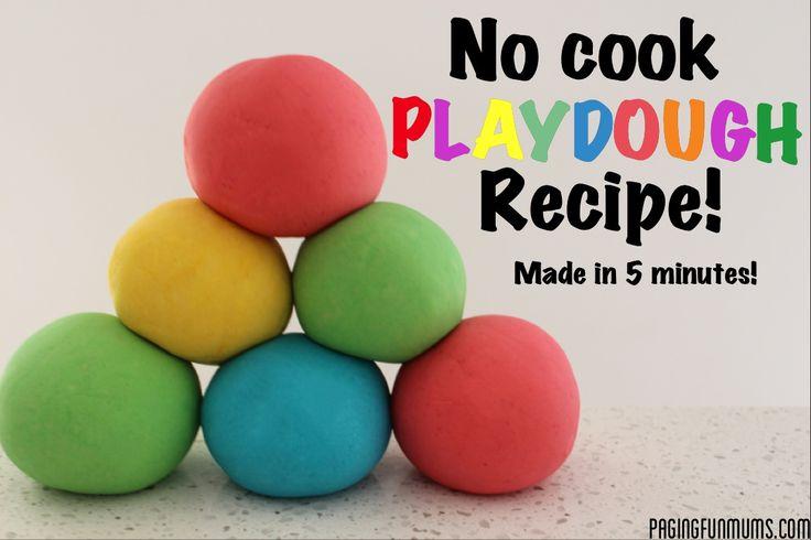 Playdough recipe for making volcano