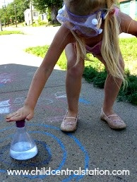 Instructions for volcano explosion with baking soda and vinegar