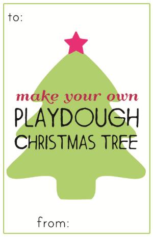 Christmas Playdough Kit Label