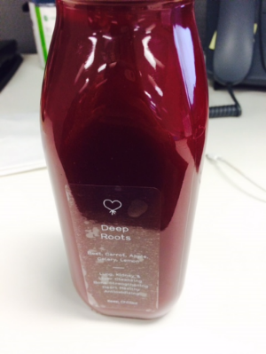 Cold-pressed fresh juice (beet, carrot, apple, celery & lemon)