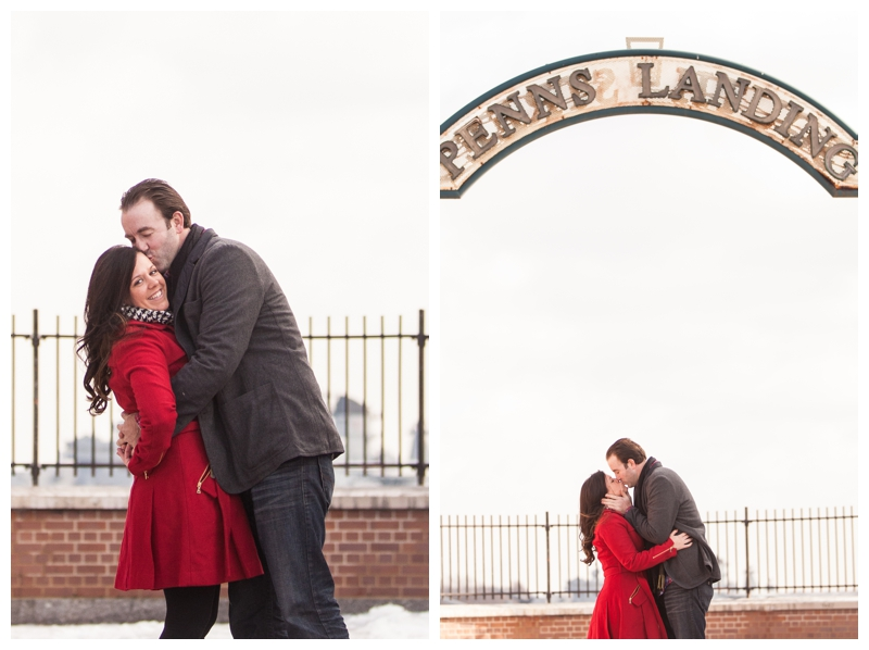 Styled Pink Penns Landing Engagement