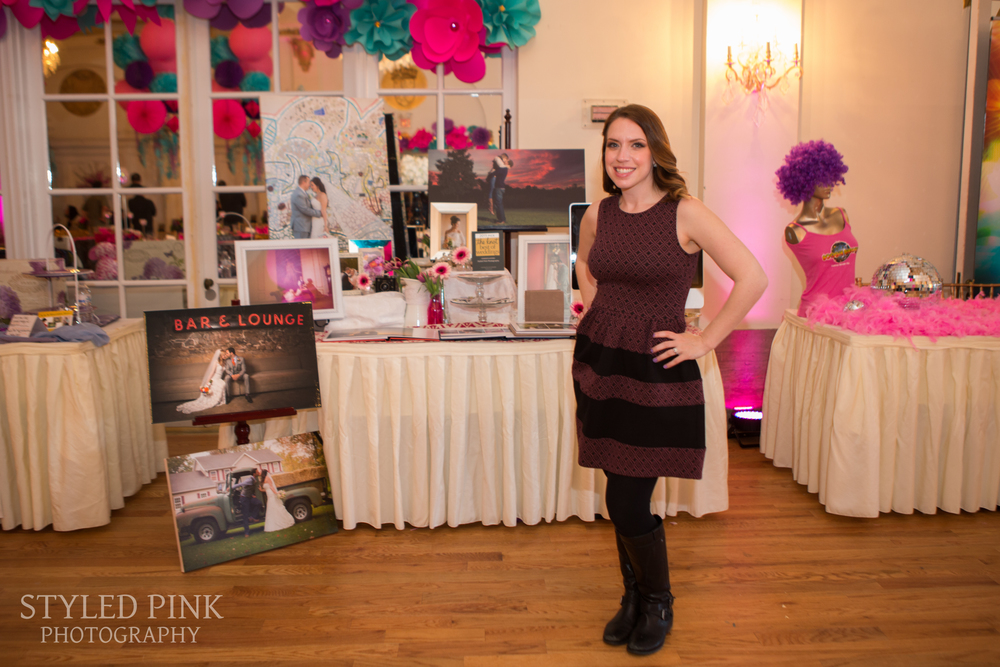 A very Styled Pink bridal show display! Now, who's looking for a wedding photographer?
