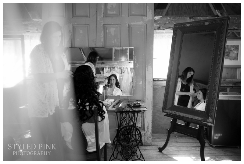 Ali got ready at the Bridal Suite at Jack's Barn, Oxford, NJ, complete with antique pieces, and lots of charm.