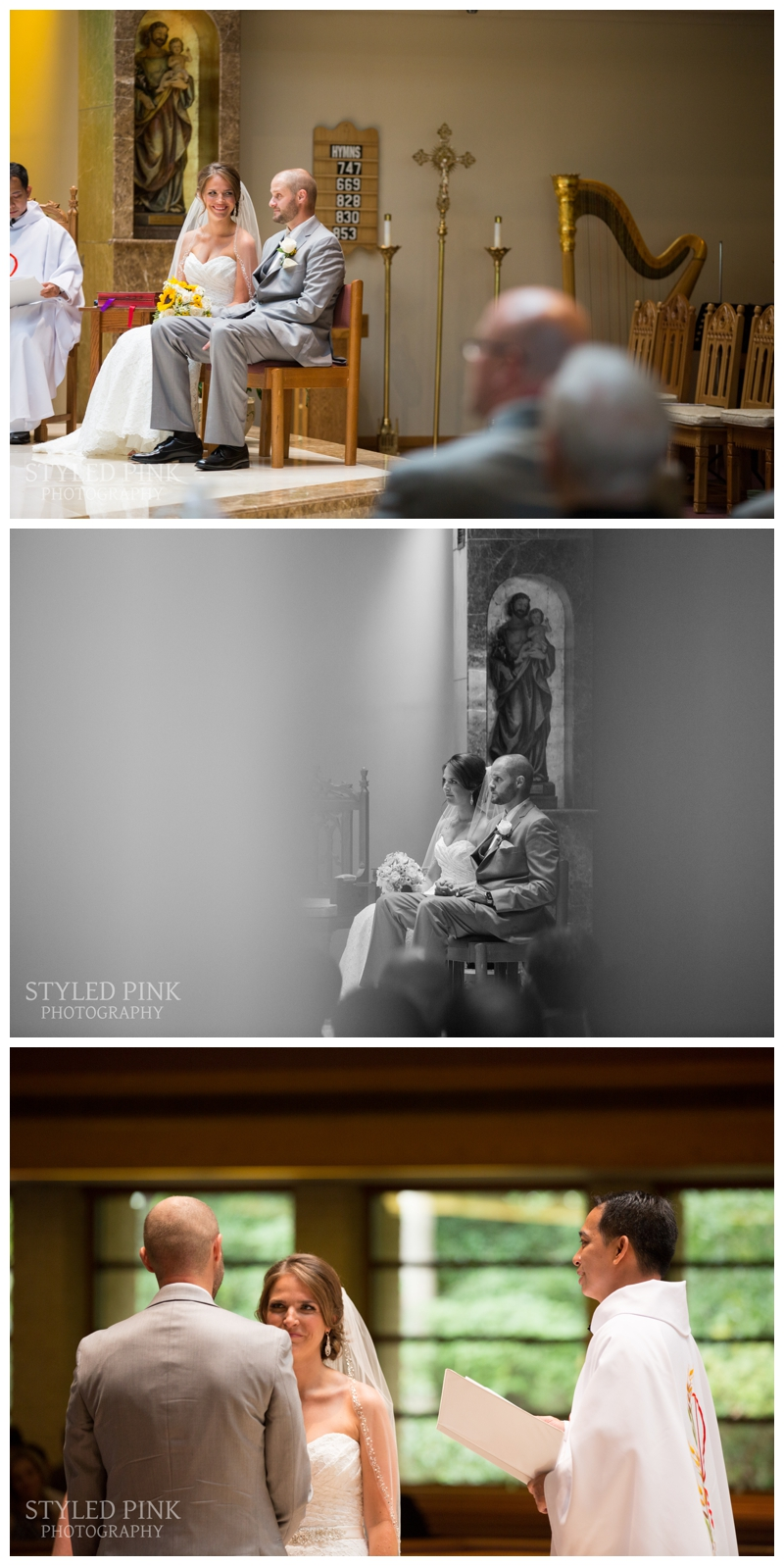 I loved the natural light on the alter while Paul and Katie exchanged vows- how cute are they?