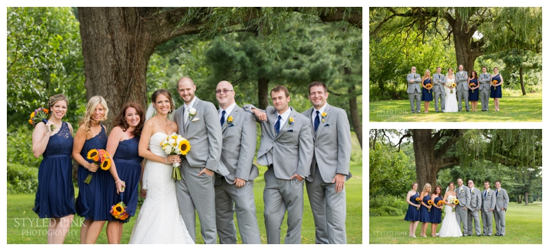 We headed to Indian Springs Country Club for bridal party shots under a gorgeous willow tree.