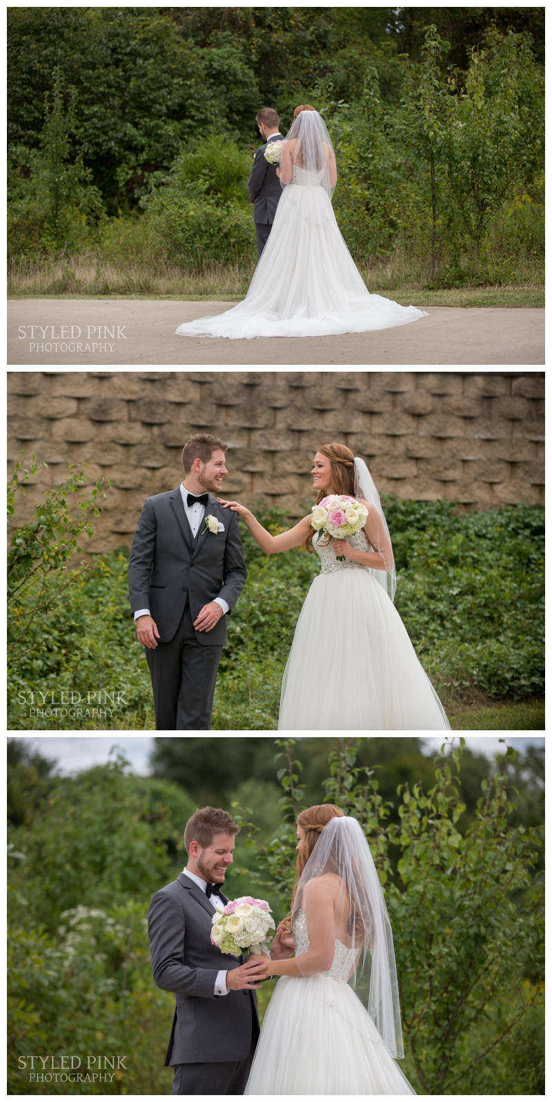 Caitlin and Tom had such a sweet First Look.