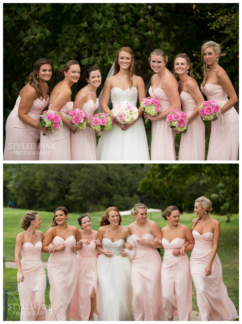 Caitlin and her girls looking stunning in pink!