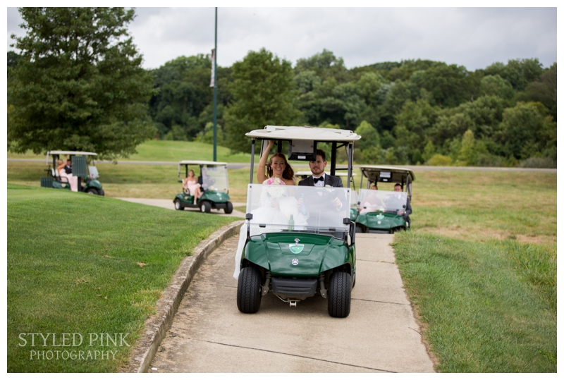 I clung to the back of a golf cart with my second shooter and assistant, as the wedding coordinator drove us around... I'm sure we weren't going very fast, but it always seems a little risky, holding all of your gear, trying to snag a shot, and trying not to fall off!