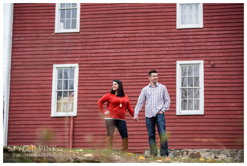 Kirby's Mill is known for the gorgeous red barn, so we had to take full advantage of that!