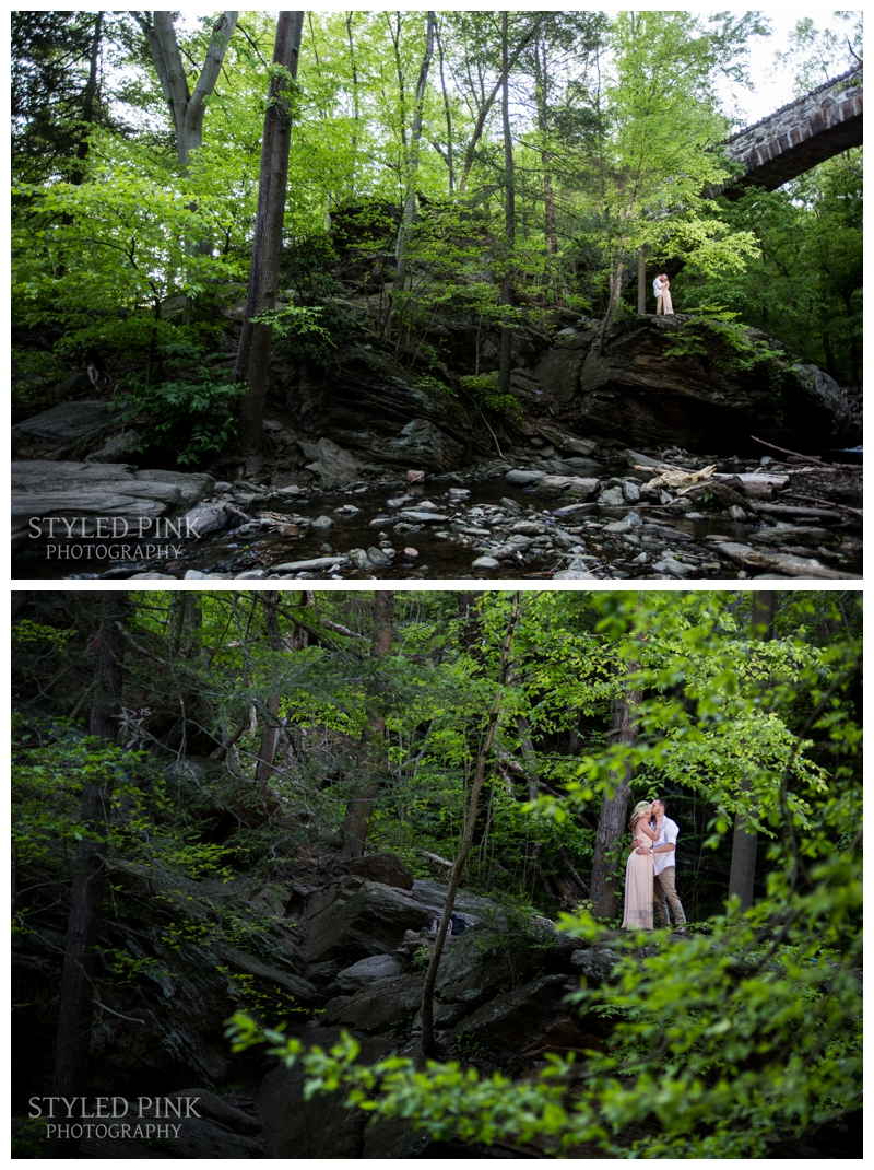 Deana and Zane climbed up, up, up to get to this gorgeous spot by Devil's Pool in the Wissahickon Creek. Did I mention there were people swimming?! Just feet from Deana and Zane were two men jumping into a small water hole from a great height- and I looked away because it looked really dangerous and it was FREEZING. Can you tell I have no inner daredevil?