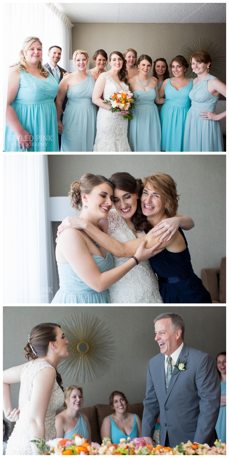 Brittany's dad had such an awesome reaction- I so love daddy/daughter first looks!
