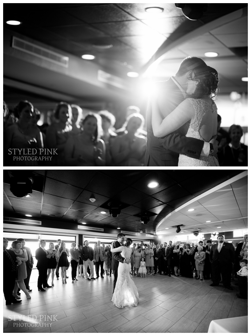 "Brittany and Brian shared their first dance as husband and wife to ""King and Lionheart"" by Of Monsters and Men."