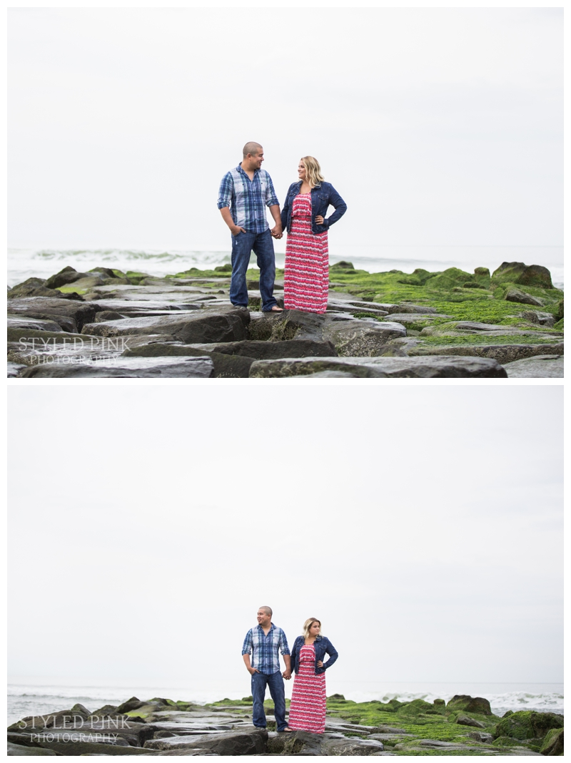 Geoff loves all things sea related- boats, fishing- you name it, so Geoff and Danielle wanted to incorporate that in their engagement session. They choose Ocean City, NJ- perfection.